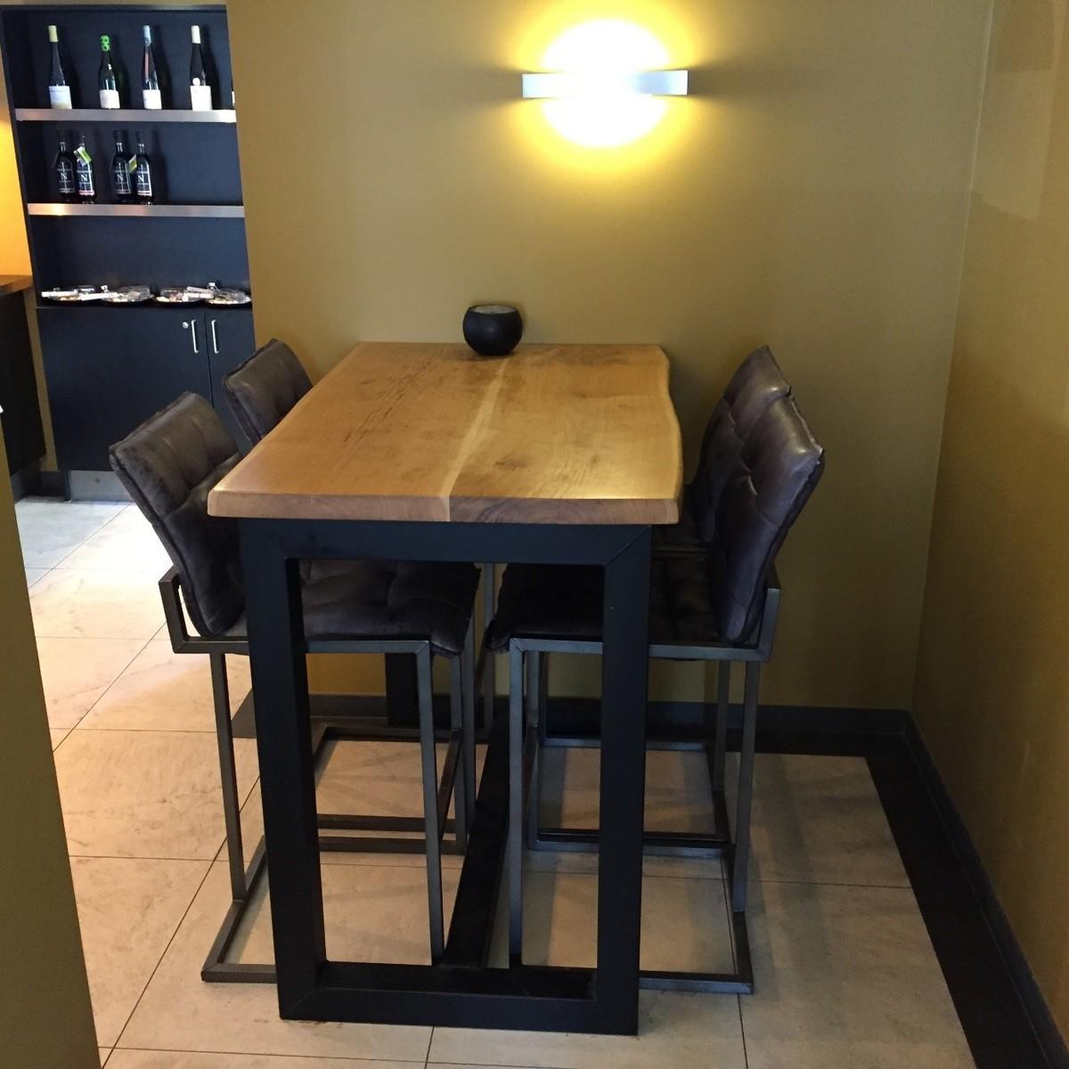 Verwonderlijk bar tafel met boomstamblad KQ-64